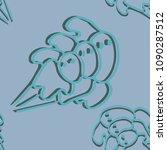balls vector seamless pattern... | Shutterstock .eps vector #1090287512
