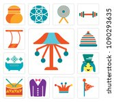 set of 13 simple editable icons ...   Shutterstock .eps vector #1090293635