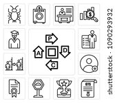 set of 13 simple editable icons ... | Shutterstock .eps vector #1090293932