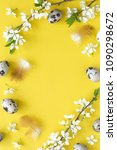 easter background with eggs and ... | Shutterstock . vector #1090298672