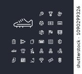 soccer shoe icon in set on the... | Shutterstock .eps vector #1090299326