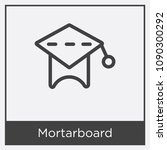 mortarboard icon isolated on... | Shutterstock .eps vector #1090300292