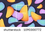 colorful geometric background.... | Shutterstock .eps vector #1090300772