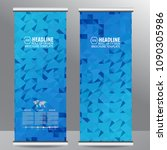 roll up business brochure flyer ...   Shutterstock .eps vector #1090305986
