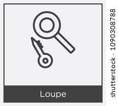 loupe icon isolated on white... | Shutterstock .eps vector #1090308788