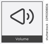 volume icon isolated on white... | Shutterstock .eps vector #1090308836