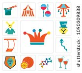 set of 13 simple editable icons ...   Shutterstock .eps vector #1090309838