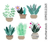 home room and  office  plants... | Shutterstock .eps vector #1090312265