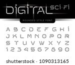 vector of futuristic alphabet... | Shutterstock .eps vector #1090313165
