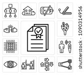 set of 13 simple editable icons ... | Shutterstock .eps vector #1090314956