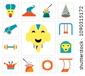 set of 13 simple editable icons ...   Shutterstock .eps vector #1090315172