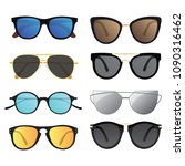 set of sunglasses. collection... | Shutterstock .eps vector #1090316462