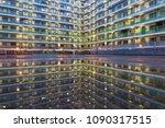 public estate in hong kong at... | Shutterstock . vector #1090317515
