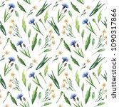 watercolor seamless pattern... | Shutterstock . vector #1090317866