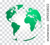 green world map globe with... | Shutterstock .eps vector #1090318022
