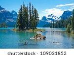 Spirit Island in Maligne Lake, Jasper, Canada