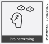 brainstorming icon isolated on... | Shutterstock .eps vector #1090319072