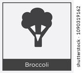 broccoli icon isolated on white ...   Shutterstock .eps vector #1090319162