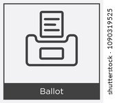 ballot icon isolated on white... | Shutterstock .eps vector #1090319525