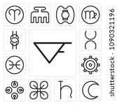 set of 13 simple editable icons ... | Shutterstock .eps vector #1090321196