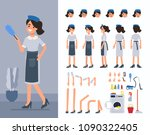 maid woman character... | Shutterstock . vector #1090322405