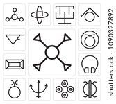 set of 13 simple editable icons ... | Shutterstock .eps vector #1090327892