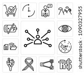 set of 13 simple editable icons ... | Shutterstock .eps vector #1090327955