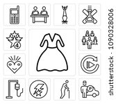 set of 13 simple editable icons ... | Shutterstock .eps vector #1090328006