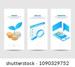 business financial analysis and ... | Shutterstock .eps vector #1090329752