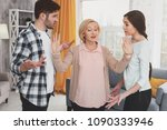 family quarrel. angry young... | Shutterstock . vector #1090333946