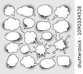 set of cartoon comic speech... | Shutterstock .eps vector #1090334528