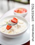 tasty and healthy oatmeal... | Shutterstock . vector #1090337822
