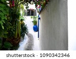 small street in plaka  athens | Shutterstock . vector #1090342346