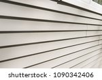 vinyl siding texture closeup | Shutterstock . vector #1090342406