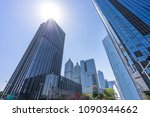 up view of modern office... | Shutterstock . vector #1090344662