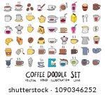 hand drawn sketch doodle vector ... | Shutterstock .eps vector #1090346252