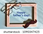 fathers day. homemade gift box  ... | Shutterstock . vector #1090347425