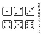 dice icons set | Shutterstock .eps vector #1090349702