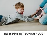 computer addiction  father...   Shutterstock . vector #1090354808