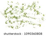 pile of chopped parsley... | Shutterstock . vector #1090360808