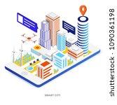 modern flat design isometric... | Shutterstock .eps vector #1090361198