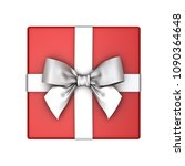 red gift box or present box... | Shutterstock . vector #1090364648