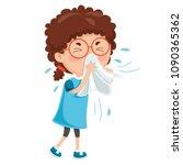 vector illustration of child... | Shutterstock .eps vector #1090365362