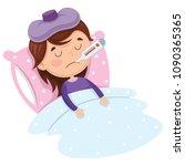 vector illustration of child... | Shutterstock .eps vector #1090365365