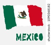 Vintage National Flag Of Mexic...
