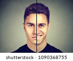 bipolar disorder. man with... | Shutterstock . vector #1090368755
