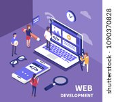web development concept. ...