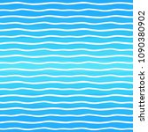 endless waves  wavy lines on... | Shutterstock .eps vector #1090380902