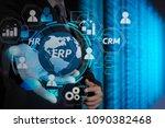 architecture of erp  enterprise ... | Shutterstock . vector #1090382468