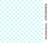 cyan flower pattern. seamless...   Shutterstock .eps vector #1090384856